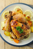 kurczak piec cały Fotografia Stock