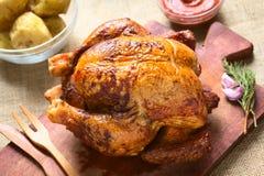 kurczak piec cały Zdjęcie Stock