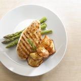 kurczak piec na grillu Zdjęcie Royalty Free
