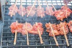 kurczak piec na grillu Zdjęcia Stock
