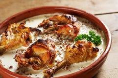 kurczak piec na grillu Zdjęcia Royalty Free