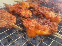 kurczak piec na grillu fotografia stock