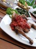 kurczak piec na grillu korzenny Fotografia Royalty Free