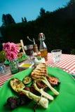 kurczak piec na grillu mięso zdjęcia royalty free