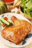 kurczak piec na grillu noga Obrazy Stock