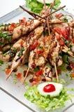 kurczak piec na grillu półkowy teriyaki Fotografia Royalty Free
