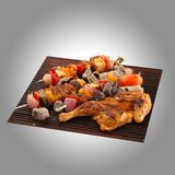 kurczak piec na grillu paneer Obraz Stock