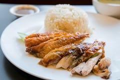 kurczak piec na grillu ryż Zdjęcia Royalty Free