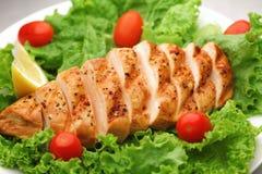 kurczak piec na grillu sałatka zdjęcia royalty free