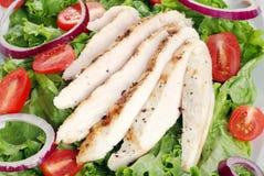kurczak piec na grillu sałatkowy odgórny widok obraz stock