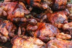 kurczak piec na grillu skrzydło Zdjęcie Royalty Free