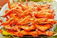 kurczak piec na grillu skrzydła Zdjęcia Royalty Free