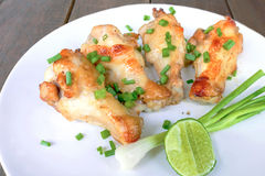 kurczak piec na grillu skrzydło Fotografia Royalty Free