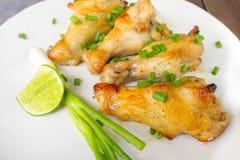 kurczak piec na grillu skrzydło Obrazy Royalty Free