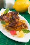 kurczak piec na grillu skrzydła Obrazy Royalty Free