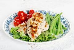 kurczak piec na grillu warzywa obraz stock