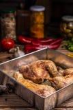kurczak piec nogi Dieta, posiłek fotografia royalty free