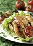 kurczak piec pomidor Obrazy Stock