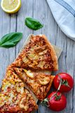 Kurczak pizza fotografia stock