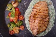 Kurczak polędwicowy na smaży niecce Obraz Stock