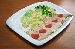 Kurczak polędwicowy z stewed zucchini Zdjęcie Stock