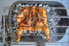 Kurczak przy grillem Obrazy Royalty Free