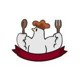 Kurczak restauraci ikona Fotografia Royalty Free