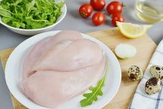 Kurczak sałatki składnik Obrazy Stock