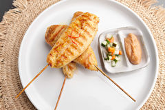 Kurczak Satay Obrazy Royalty Free