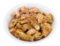 kurczak smażący mięsa talerz obraz stock