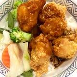 kurczak smażący ryż Obrazy Stock