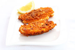 kurczak smażący schnitzel Obraz Royalty Free