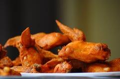kurczak smażący skrzydła Obrazy Royalty Free