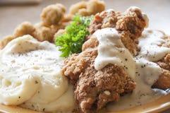kurczak smażący stek Zdjęcia Royalty Free