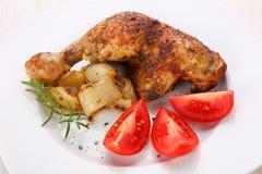 kurczak smażyć nogi Zdjęcia Royalty Free