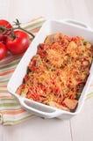 Kurczak, smyczkowe fasole i pomidoru sera potrawka, fotografia royalty free