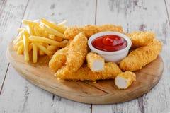 Kurczak stripsy Zdjęcie Royalty Free