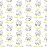 Kurczak Szczęśliwy Wielkanocny Patternjpg Obraz Stock