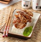 kurczak teriyaki zdjęcia stock