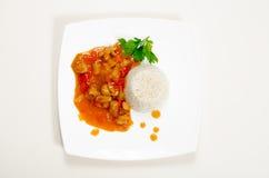 Kurczak w słodkiego, podśmietania kumberlandzie z i Zdjęcia Stock