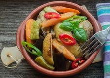 Kurczak z dzieci warzywami Obraz Stock