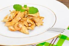 Kurczak z nerkodrzew dokrętkami i soja kumberlandem kuchnia azjatykcia Zdjęcie Stock