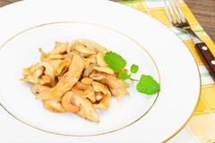 Kurczak z nerkodrzew dokrętkami i soja kumberlandem kuchnia azjatykcia Fotografia Stock
