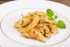 Kurczak z nerkodrzew dokrętkami i soja kumberlandem kuchnia azjatykcia Fotografia Royalty Free