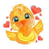 Kurczak z sercami Zdjęcie Stock