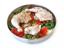 Kurczak z warzywami Zdjęcie Royalty Free