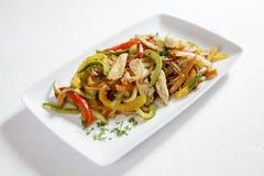 Kurczak z warzywami Obrazy Royalty Free