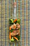 Kurczak z warzywami fotografia stock
