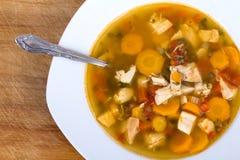 kurczak zup warzywnych Fotografia Stock
