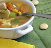 kurczak zup warzywnych Zdjęcia Stock